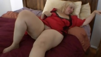 Sister Rosa rubs her excess weight clit