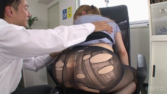 Tearing way up her subdue pantyhose while fucking the home