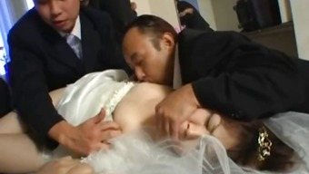 Asian soon to be bride gets hardcore group fucking part1
