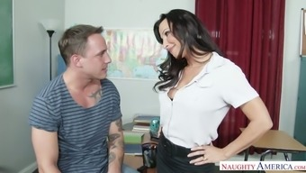 Heated instructor Lezley Zen asks her student to really thrash her moist pussy