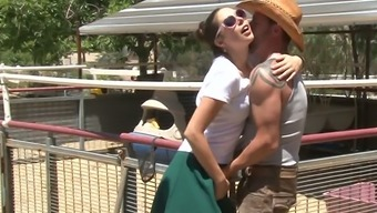 Hot pale mothers Alana Evans watched twisted slutty GF kissing nasty cowboy off