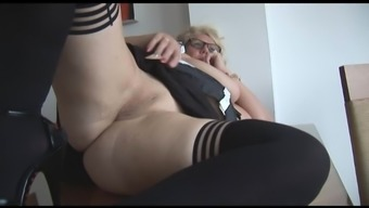 Mature In english counter by using huge tits stripping