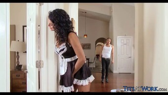 Attractive Maid gets Penis for the work
