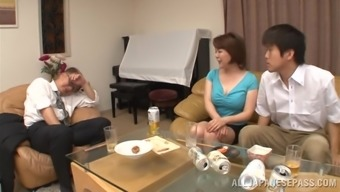 Oriental milf is fucked ridiculous through a a horny stud