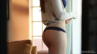 Beautiful sexual seduce with slender youngster