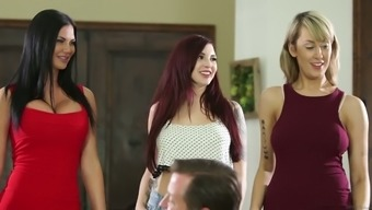 Amber Ivy and Jasmine Jae are a pair of attractive to halt and then they will love orgies