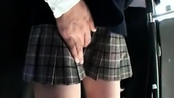 Adorable Far eastern schoolgirl consists of a perverted guy endearing her puss