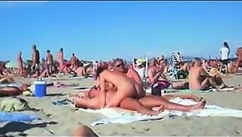 cuckolding within the topless seaside gets taped