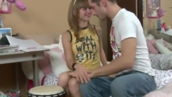 extremeteencams.com - Cute Slender Youngster Fucks Blessed with good luck Stud