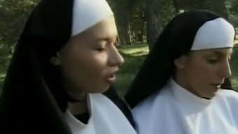 The french language Lesbian Immoral Nuns