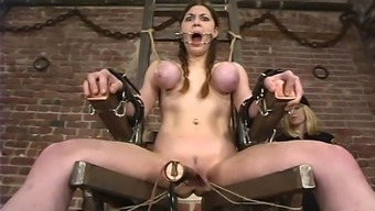 Mallory Knots gets harshly fucked with instinctively driven toys in BDSM clip