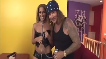 Adriana Deville twice entered with 2 dicks same