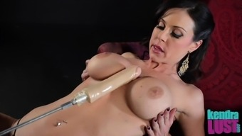 Kendra Lechery bends over for getting a a handful of solid sexual intercourse toys