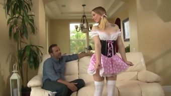 Cute girl Lucy Tyler gets fucked by her stepdad in various positions