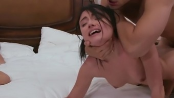 Adria Rae gets brutally fucked beside her mama