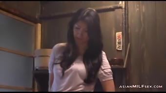 Milf Brushing Herself Having Orgasm Located on the Flooring In the cooking area