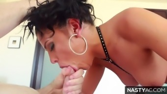 Vicious facefuck with the use of Adriana Chechik