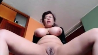 Busty Homemaker Liza toying live in your own home