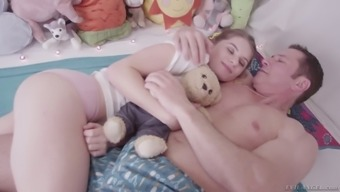 Barely permissible teen Alice Advance is having intercourse with the tainted stepdad