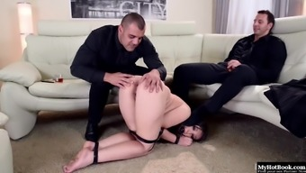 Akasha Cullen is packed like a surprise for her two different Doms