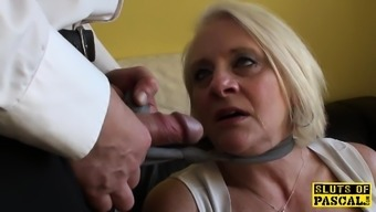 Bigtitted uk gran gets rough manage