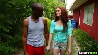 Whitish bright redhead Alice Ecological goes interracial right open air to actually be fucked clearly