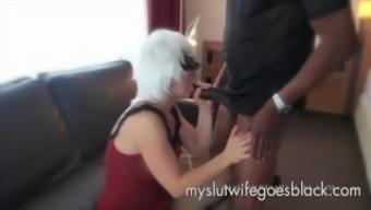 light wifey Alexia Thomas first consult big dark colored junk to effectively feed