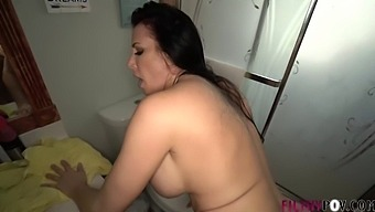 My mom gets me hard and makes me fuck her in the bathroom